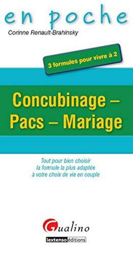 Dissertation comparer pacs concubinage et mariage
