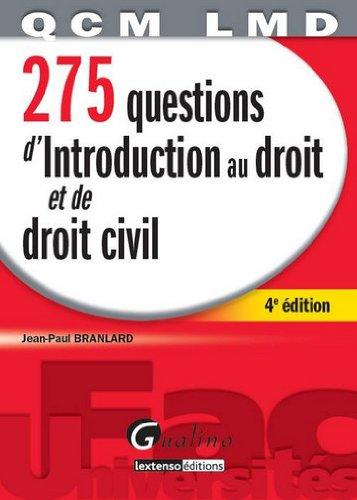 9782297022965: 275 questions d'introduction au droit et de droit civil