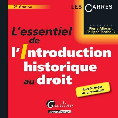9782297024891: Essentiel de l'Introduction Historique au Droit, Deuxième Edition (l')
