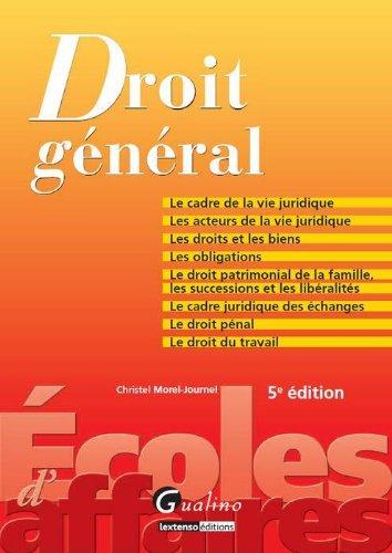9782297025492: Zoom'S-Droit General,Cinquième Edition