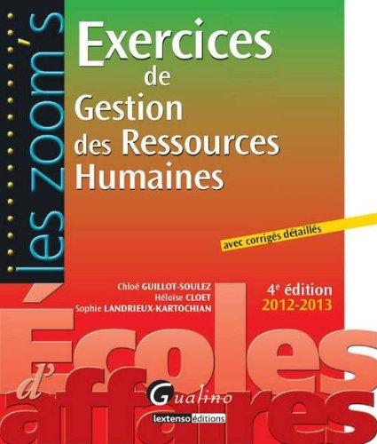 9782297025515: Zoom'S- Exercices de Gestion des Ressources Humaines,Quatrième Edition