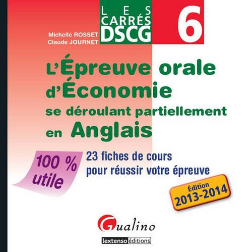 9782297031486: Epreuve Orale d'Economie Se Deroulant Partiellement en Anglais -Dscg Ue 6 (l')