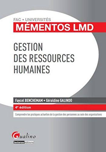 9782297032315: Gestion des ressources humaines (4e édition)