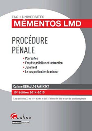 9782297032698: M�mentos LMD - Proc�dure p�nale 2014-2015