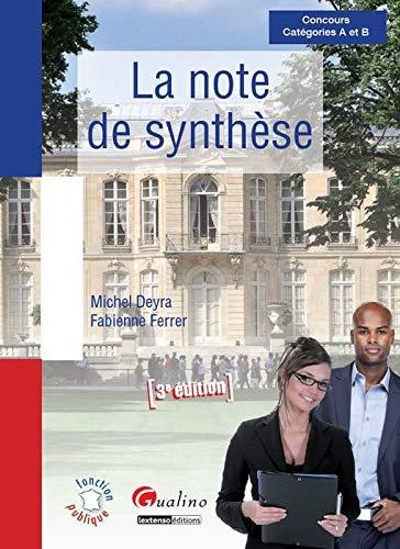 9782297032810: La note de synth�se : Concours A et B