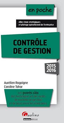 CONTROLE DE GESTION 2015-2016: RAGAIGNE AURELIEN