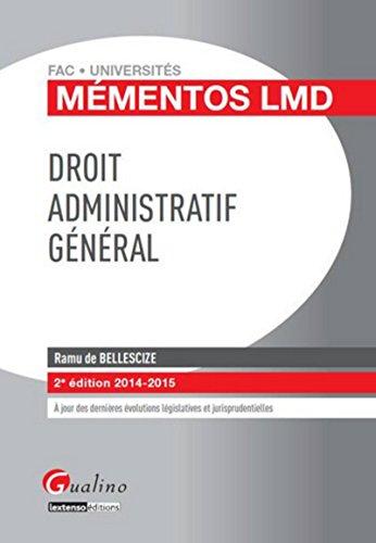 9782297039161: Droit administratif général 2014-2015, 2ème Ed