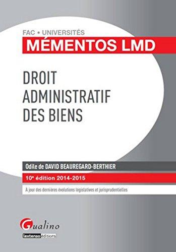9782297039512: Droit administratif des biens 2014-2015