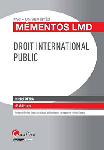 9782297039529: Droit international public (4e édition)
