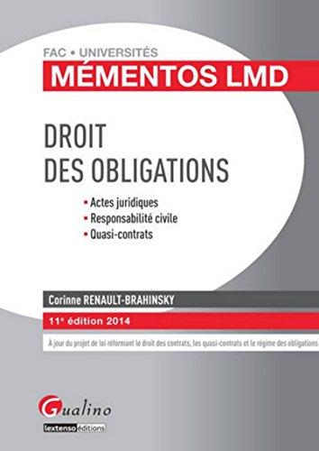 9782297039659: Droit des obligations 2014