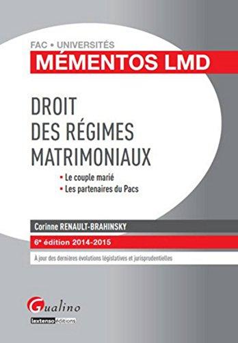 9782297039666: Droit des régimes matrimoniaux 2014-2015