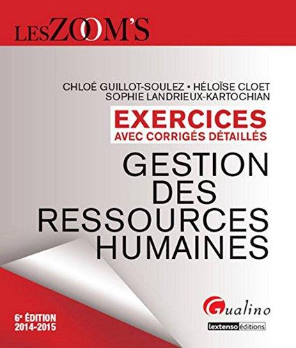 9782297040501: Zoom's - Exercices corrigés Gestion des ressources humaines, 6ème Ed