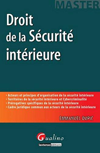 Master - Droit de la Securite Intérieure: Emmanuel Dupic