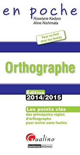 9782297045391: Orthographe 2014-2015