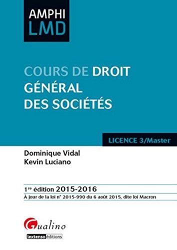Droit General des Societes 2015-2016