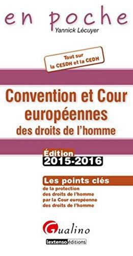 9782297045650: Convention et Cour européennes des droits de l'homme 2015-2016