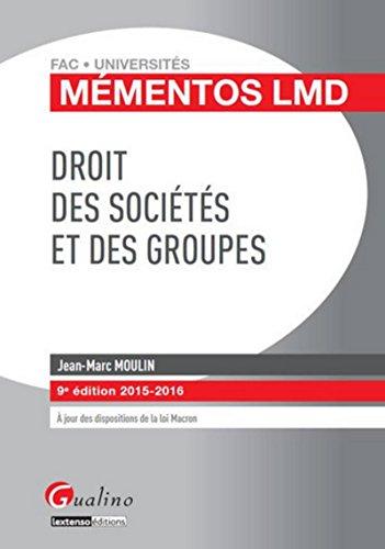 9782297047081: droit des sociétés et des groupes 2015-2016