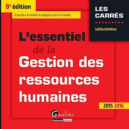9782297047968: l'essentiel de la gestion des ressources humaines, 2015-2016