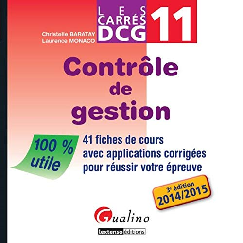 9782297048712: Carrés DCG 11 - Contrôle de gestion
