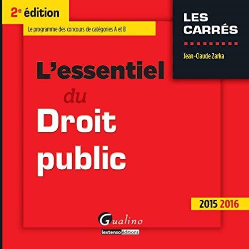 9782297052733: L'essentiel du droit public 2015-2016