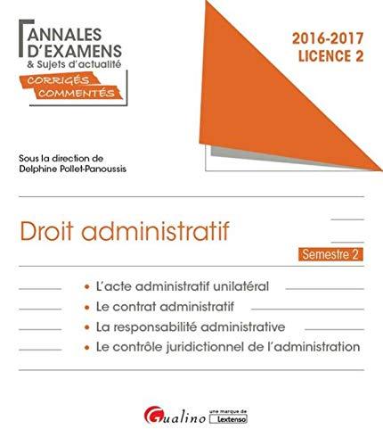 Droit administratif Licence 2 Semestre 2 : Denis Dendoncker; Fabien