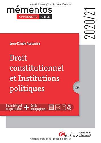 9782297090872: Droit constitutionnel et Institutions politiques