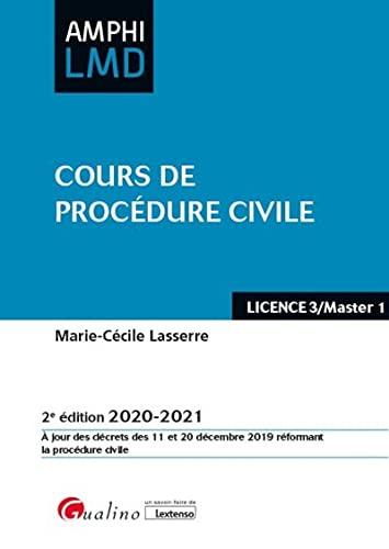 9782297092852: Cours de procédure civile