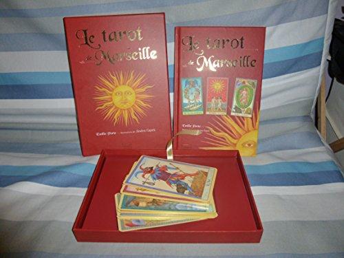 9782298056440: Le tarot de Marseille sous coffret, livre + 22 cartes