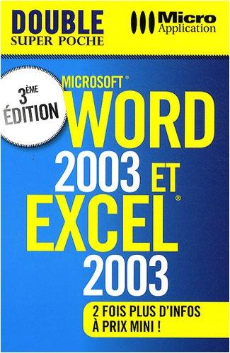 9782300019753: Word 2003 et excel 2003