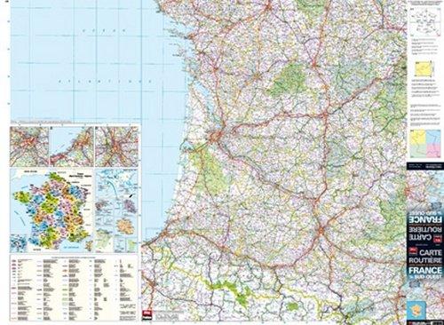 9782309040086: France 1/4 Sud-Ouest - Carte Murale Plastifi�e