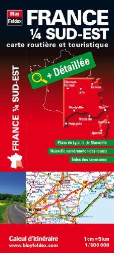 9782309040161: France 1/4 Sud-Est - Carte routière et touristique (échelle : 1/500 000)