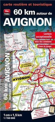 9782309060169: 60km Autour d'Avignon Carte Routière Touristique - Echelle : 1/150 000