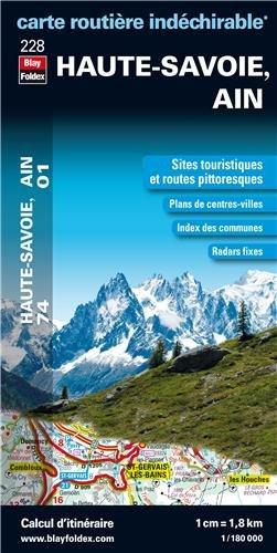 9782309070342: Haute-Savoie (74), Ain (01) - Carte départementale, routière et touristique (échelle : 1/180 000)