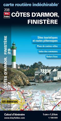 9782309070410: Côtes-d'Armor (22), Finistère (29). Carte Départementale Routière et Touristique