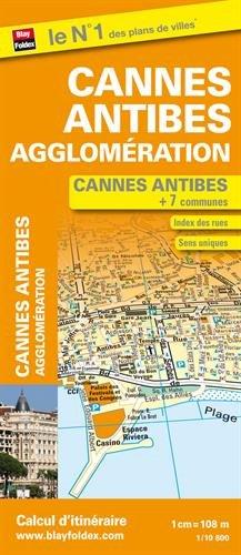9782309501075: plan de cannes, d'antibes et des 7 communes de l'agglomeration