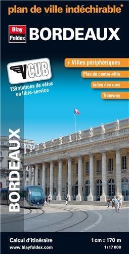 9782309501280: Plan de Bordeaux Indéchirable - Avec localisation des stations VCUB