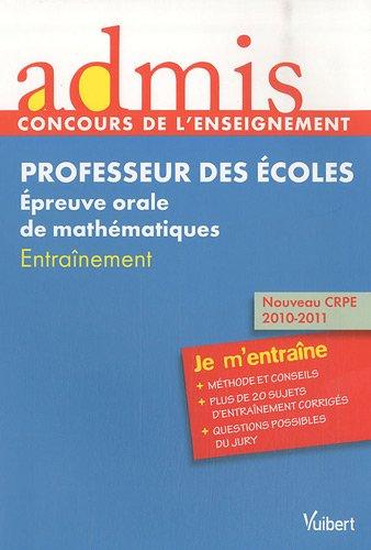 Concours professeur des écoles - Epreuve orale: Marc Loison