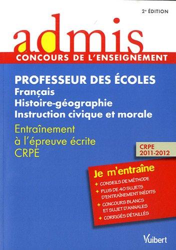 Concours Professeur des écoles - Français, histoire-géographie,: Marc Loison