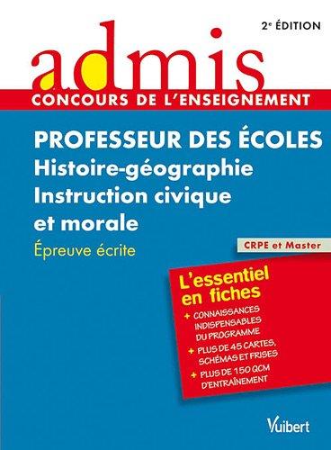 9782311004175: Concours professeur des écoles his/géo-instruction civique et morale