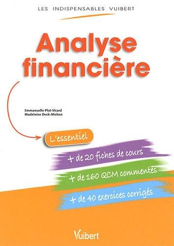 9782311007572: Analyse financière
