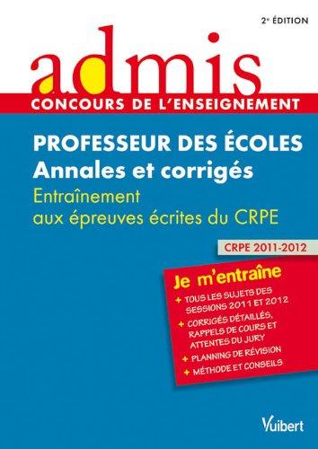 Concours Professeur des écoles - Annales et: Marc Loison