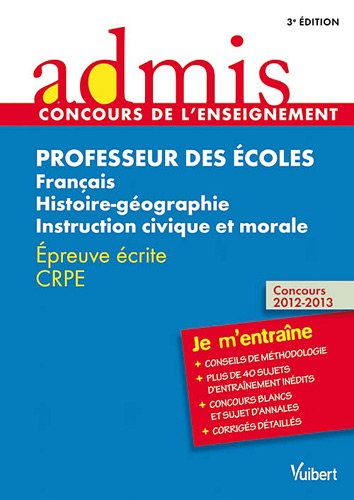 Concours Professeur des écoles - Français, Histoire-géographie: Marc Loison