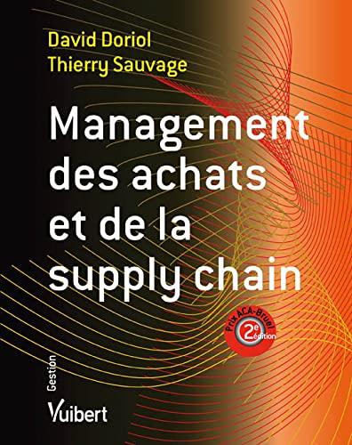 9782311009149: management des achats et de la supply chain (2e édition)