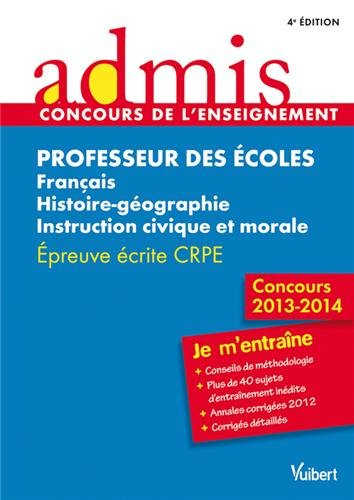 Concours Professeur des écoles - Français, histoire-géographie,: Marc Loison, Collectif