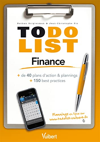 9782311012538: To do List Finance - + de 40 plans d'action + 150 best practices