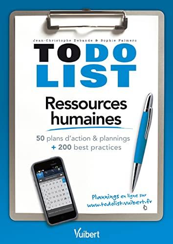TO DO LIST RESSOURCES HUMAINES: DEBANDE J C PALMERO