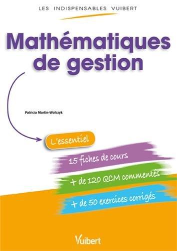 9782311012699: Les Indispensables Vuibert - Mathématiques de gestion
