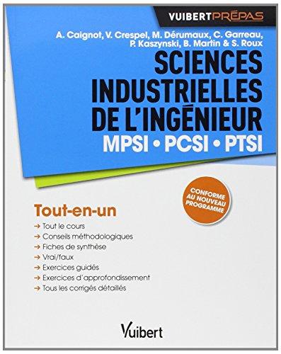 9782311013054: Sciences Industrielles de l'ingénieur : MPSI, PCSI, PTSI