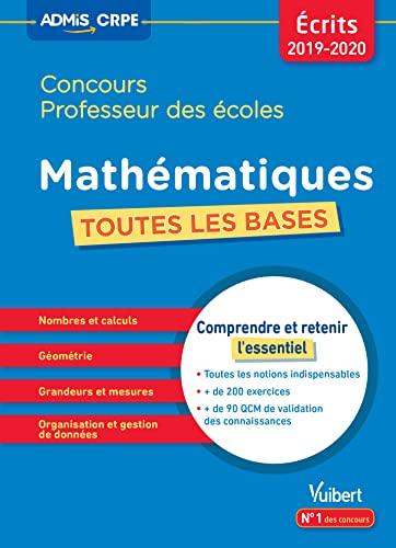 9782311206142: Mathématiques concours professeur des écoles : Toutes les bases