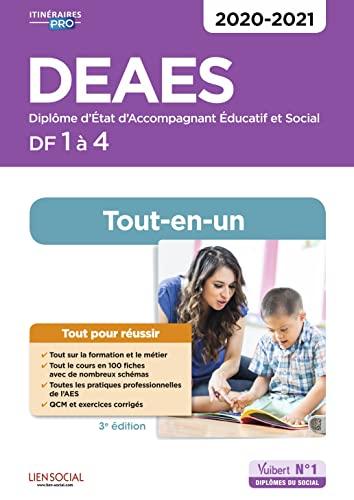 9782311206760: DEAES - Domaines de formation 1 à 4 - Tout-en-un - Diplôme d'Etat d'Accompagnant éducatif et social - 2020-2021
